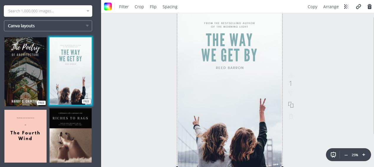 Tworzenie okładki ebooka w Canvie
